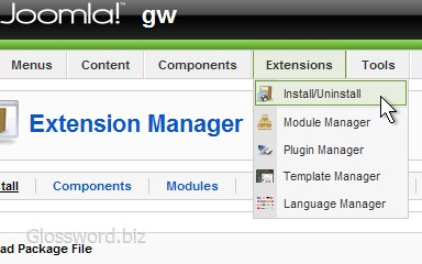 Accessing to Extension Manager. / 384×240, 27 KB